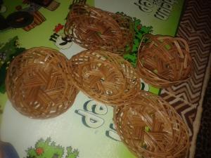 Macam-Macam bentuk piring lidi kerajinan rajapolah