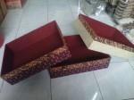 Kotak seserahan mendong kombinasi batik kerajinan Rajapolah